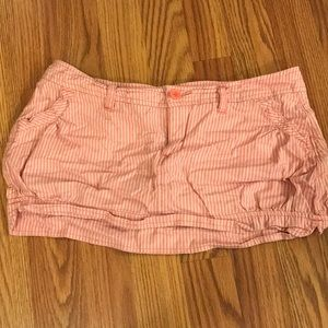 Pink and white stripped Hollister Skirt